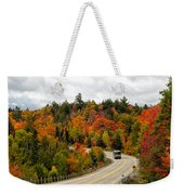 Driving Through Algonquin Park In Fall Weekender Tote Bag