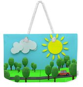 Driving Through Countryside Weekender Tote Bag