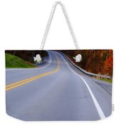 Driving Through Fall Weekender Tote Bag