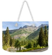 Driving Through Glacier National Park Weekender Tote Bag
