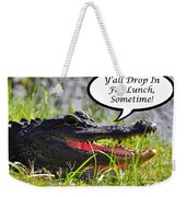 Drop In For Lunch Greeting Card Weekender Tote Bag by Al Powell Photography USA