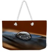 Drop On A Bluejay Feather Weekender Tote Bag