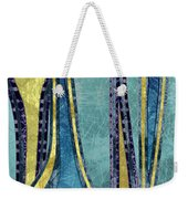 Droplet Ornaments In Navy Blue And Gold Weekender Tote Bag