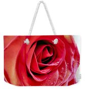 Droplets In Red Weekender Tote Bag