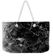 Droplets On The Web Bw Weekender Tote Bag