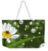 Drops Of Spring Weekender Tote Bag