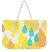 Drops Of Sunshine- Abstract Painting Weekender Tote Bag by Linda Woods