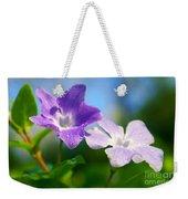 Drops On Violets Weekender Tote Bag