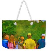 Drum Circle Rainbow Weekender Tote Bag