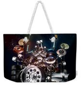 Drum Machine - The Band's Engine Weekender Tote Bag by Alessandro Della Pietra