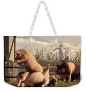 Drunken Pigs Weekender Tote Bag by Daniel Eskridge