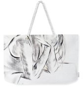 Dry Brush Painting Of A Young Womans Face Weekender Tote Bag