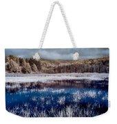 Dry Lagoon Blues Weekender Tote Bag