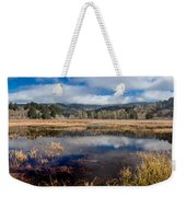 Dry Lagoon In Winter Panorama Weekender Tote Bag