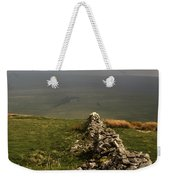 Drystone Wall  Misty Day Kettlewell Wharfedale North Yorkshire England Weekender Tote Bag