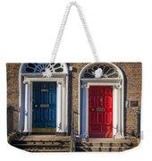 Dual Doors Weekender Tote Bag
