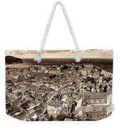 Dubrovnik Rooftops And Lokrum Island Against The Dalmatian Adriatic Sepia Weekender Tote Bag