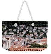 Dubrovnik Rooftops Domes And North East Walls Against The Mountains From The Sea Walls Weekender Tote Bag