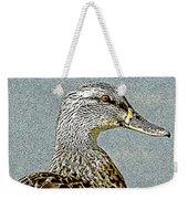 Duck Art Tribal Mallard Weekender Tote Bag