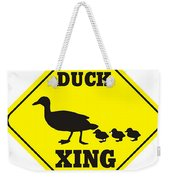 Duck Crossing Sign Weekender Tote Bag
