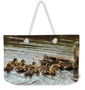 Duck Family Weekender Tote Bag
