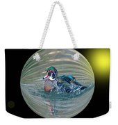Duck In A Bubble  Weekender Tote Bag