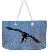 Duck In Flight Weekender Tote Bag