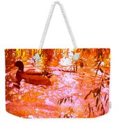 Duck In Warm Light Weekender Tote Bag