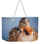 Duck In Water Weekender Tote Bag