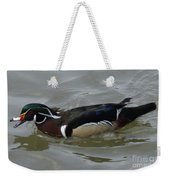 Angry Wood Duck Weekender Tote Bag