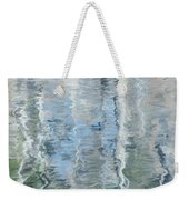 Duck On Pond, Abstract Weekender Tote Bag