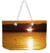 Duck On Sunset Weekender Tote Bag