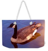 Duck Swimming Weekender Tote Bag