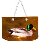 Duck Swimming On Golden Pond Weekender Tote Bag