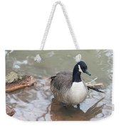 Duck Wading In A Stream Weekender Tote Bag