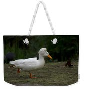 Duck With Stylish Hair Weekender Tote Bag