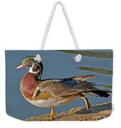 Duck Yoga Weekender Tote Bag
