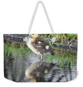 Duckling With Reflection Weekender Tote Bag