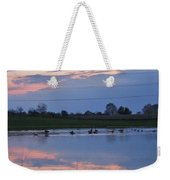 Ducks And Geese At Sunset Weekender Tote Bag