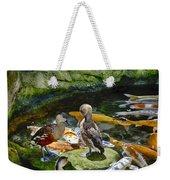 Ducks At The Koi Pond Weekender Tote Bag