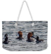 Ducks In Pond Weekender Tote Bag