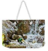 Ducks In The Falls Weekender Tote Bag