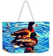 Ducks On A Log Weekender Tote Bag