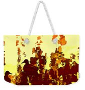 Ducks On Red Lake 2 Weekender Tote Bag