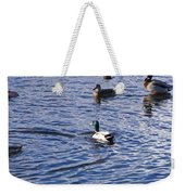 Ducks Swimming  Weekender Tote Bag