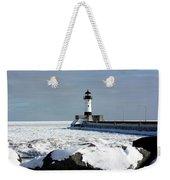 Duluth Harbor Lighthouse Weekender Tote Bag