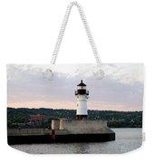 Duluth Mn Lighthouse Skyline Weekender Tote Bag