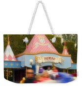 Dumbo Flying Elephants Fantasyland Signage Disneyland 02 Weekender Tote Bag