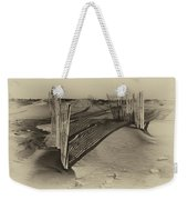 Dune Erosion Fence Outer Banks Nc Antique Plate Img_3761 Weekender Tote Bag