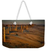 Dune Erosion Fence Outer Banks Nc Img3748 Weekender Tote Bag